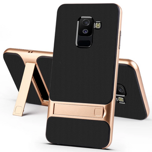 Galaxy A6 Plus Armor Bracket Hybrid Kickstand Case