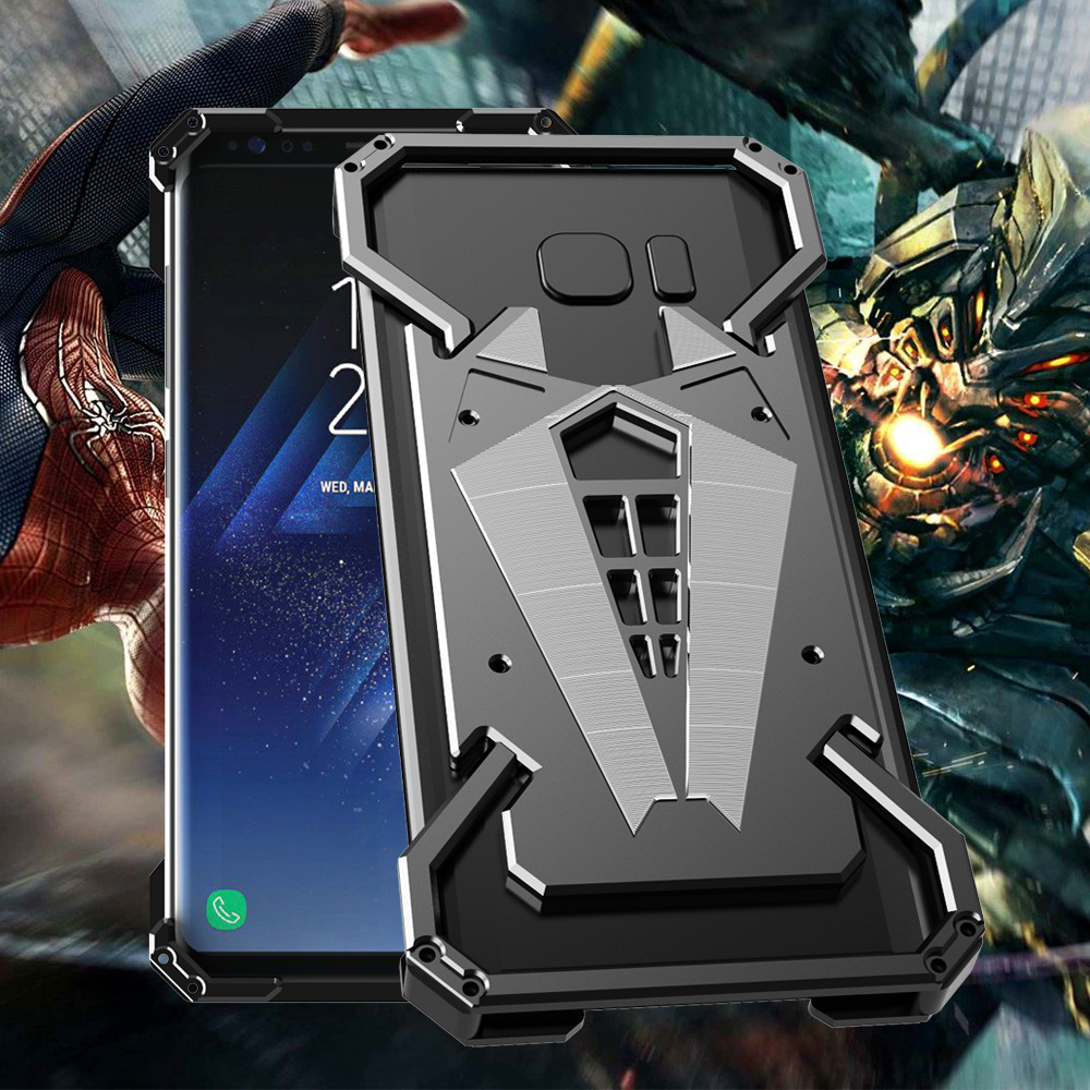 Galaxy S9 Spider Man Aluminium Metal Case - Black