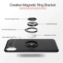 Load image into Gallery viewer, iPhone Xs Max Finger Ring Silicone Hybrid Case