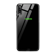 Load image into Gallery viewer, GALAXY A7 2018 RADIUM LOGO GLOW GLASS HARD CASE