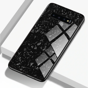 Samsung Galaxy S10 Marble Protective Glass Case