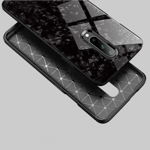 OnePlus 7 Marble Glass Hybrid Case - Black