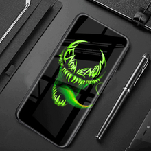 Load image into Gallery viewer, Galaxy Note 10 Radium Venom Logo Glow Glass Hard Case