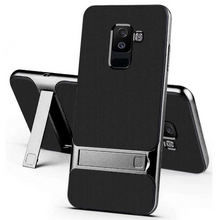 Load image into Gallery viewer, Galaxy A6 Plus Armor Bracket Hybrid Kickstand Case