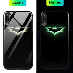 Galaxy A50 Radium Batman Logo Glow Glass Hard Case