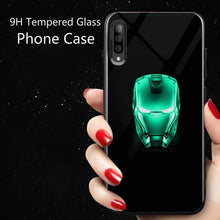 Load image into Gallery viewer, Galaxy A50 Radium Iron Man Logo Glow Glass Hard Case