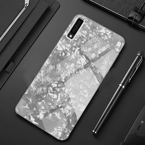 GALAXY A7 2018 MARBLE GLASS HARD CASE