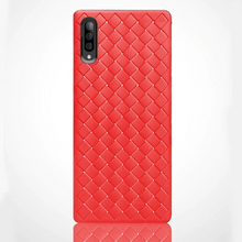 Load image into Gallery viewer, GALAXY A7 2018 SOFT SILICONE WEAVE CASE