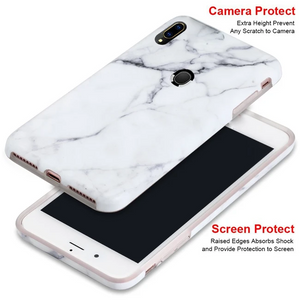 Samsung Galaxy M20 White Marble Back Case