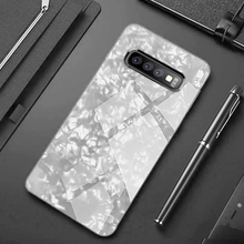 Load image into Gallery viewer, Samsung Galaxy S10 Marble Protective Glass Case