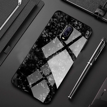 Load image into Gallery viewer, OnePlus 7 Marble Glass Hybrid Case - Black
