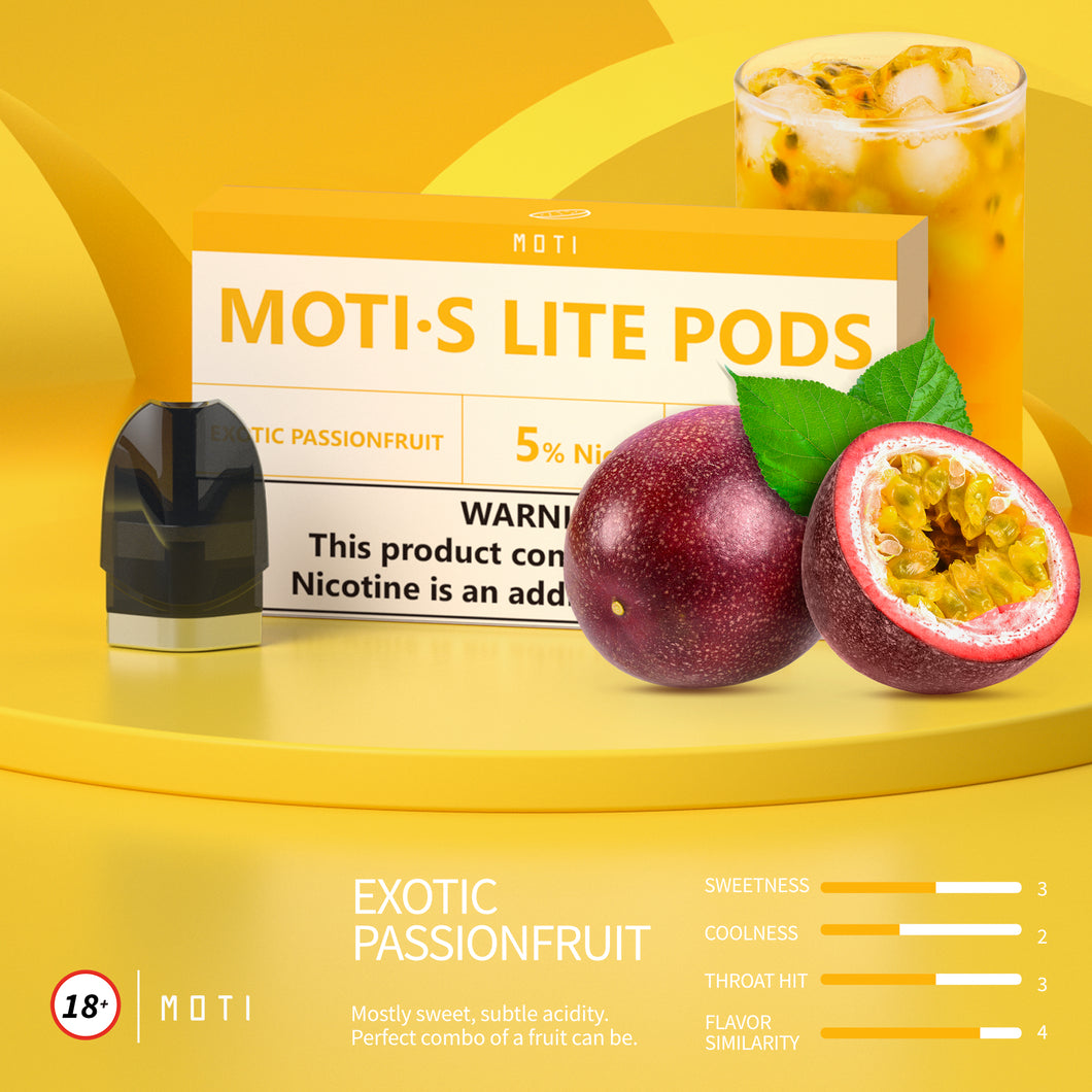 MOTI S Lite  Pre-filled Pods Exotic-Passionfruit (3 Packs)