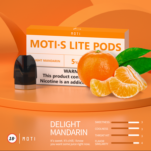 MOTI S Lite  Pre-filled Pods Delight-Mandarin (3 Packs)