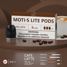 Load image into Gallery viewer, MOTI S Lite  Pre-filled Pods Cafe Latte (3 Packs)