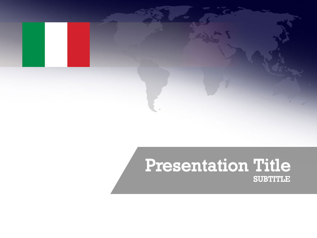 Free flag of Italy Powerpoint template and Google Slides theme