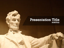 Load image into Gallery viewer, free-abraham-lincoln-memorial-PPT-template