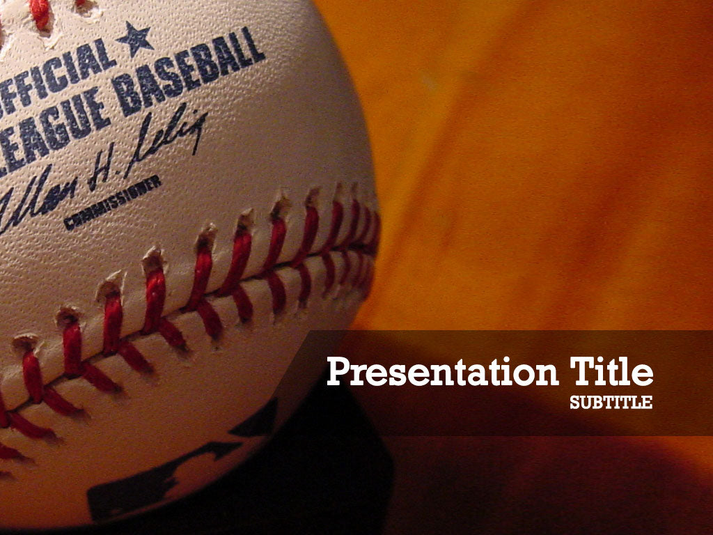 free-baseball-PPT-template