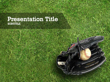 Load image into Gallery viewer, free-baseball-glove-with-ball-PPT-template