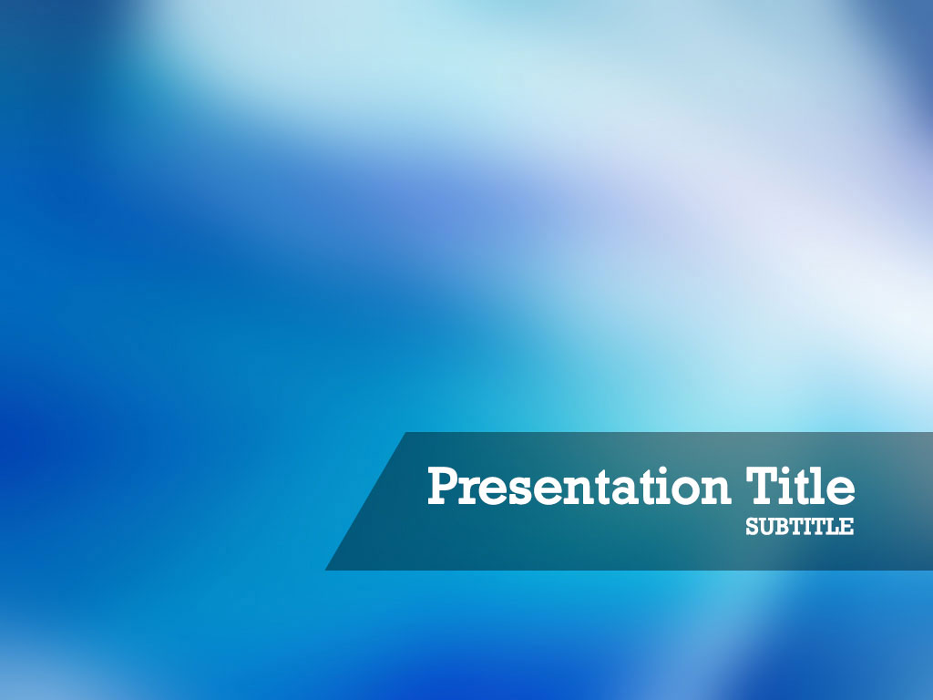 free-blue-light-PPT-template