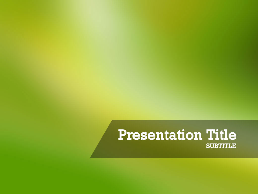free-blurred-green-background-PPT-template
