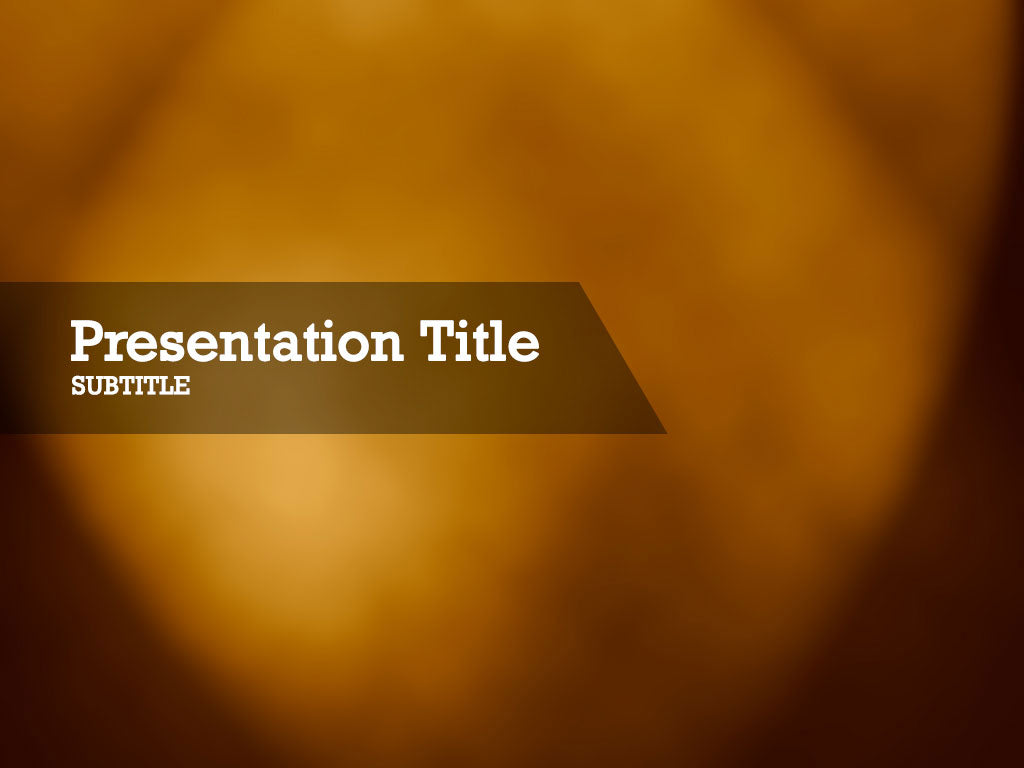 free-brown-spotlight-PPT-template