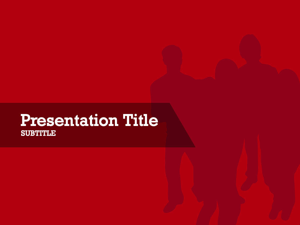 free-business-group-silhouette-on-red-background-PPT-template
