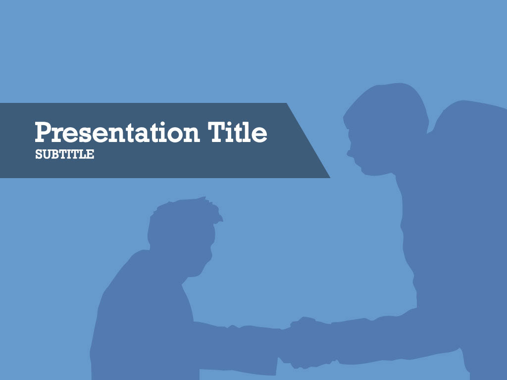 free-business-handshake-silhouette-PPT-template