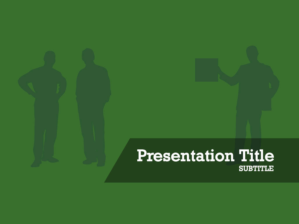 free-business-men-silhouette-on-green-background-PPT-template