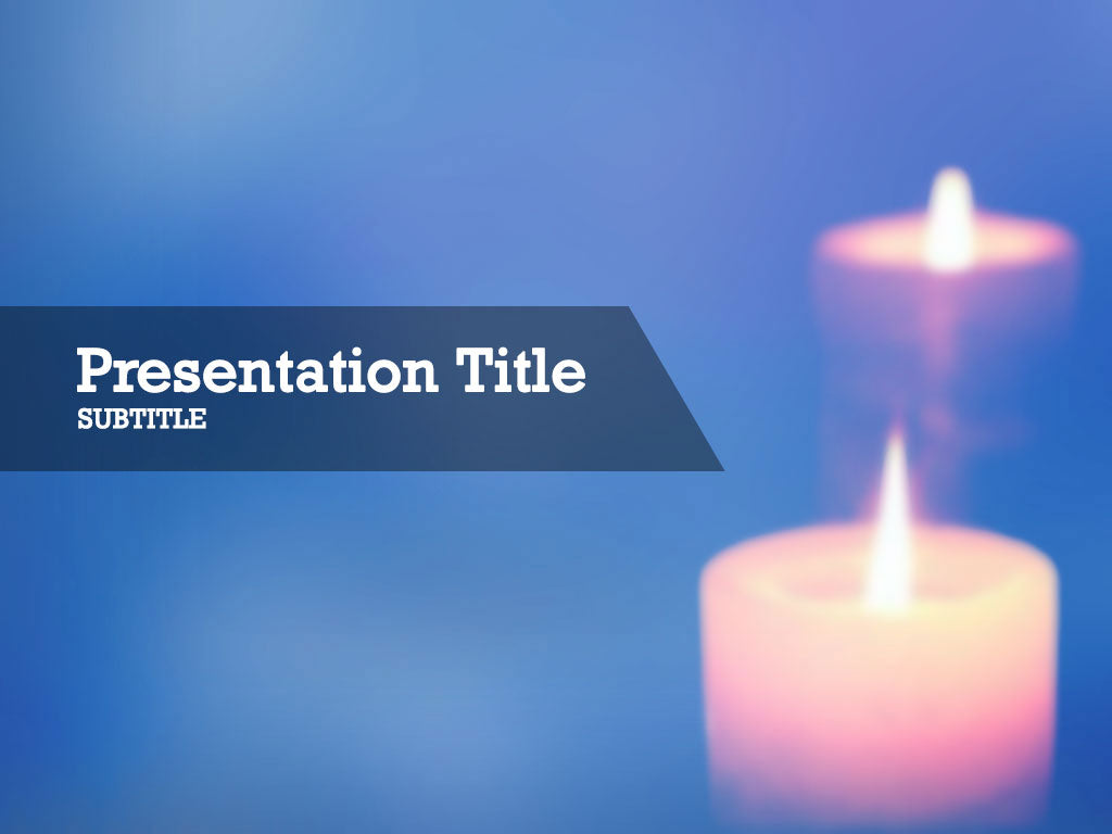 free-candle-lights-PPT-template