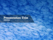 Load image into Gallery viewer, free-clouds-on-blue-sky-PPT-template