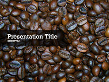 Load image into Gallery viewer, Free coffee beans Powerpoint template and Google Slides theme