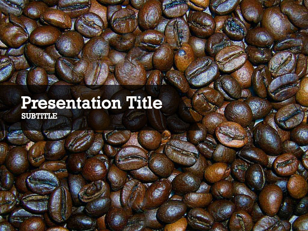 Free coffee beans Powerpoint template and Google Slides theme