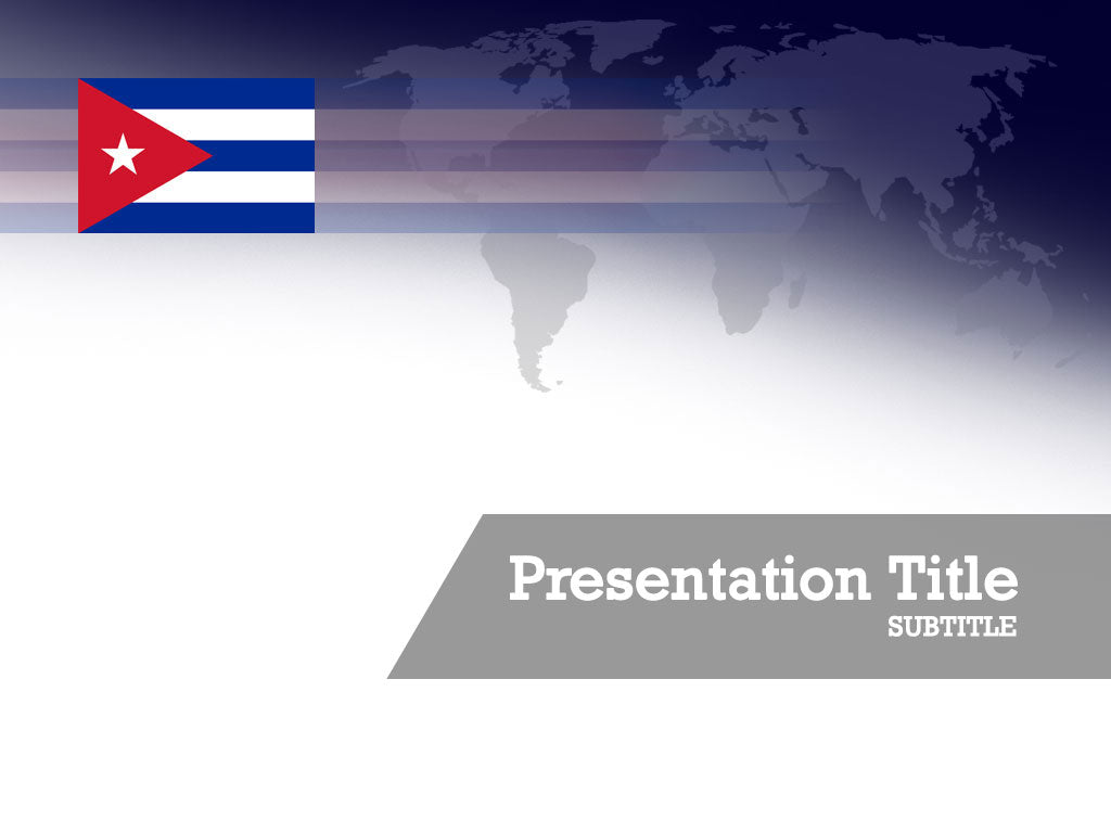 free-cuba-flag-PPT-template