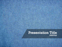 Load image into Gallery viewer, free-denim-fabric-PPT-template