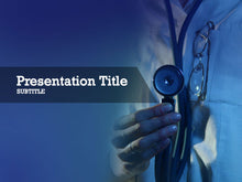 Load image into Gallery viewer, free-doctor-with-stethoscope-PPT-template