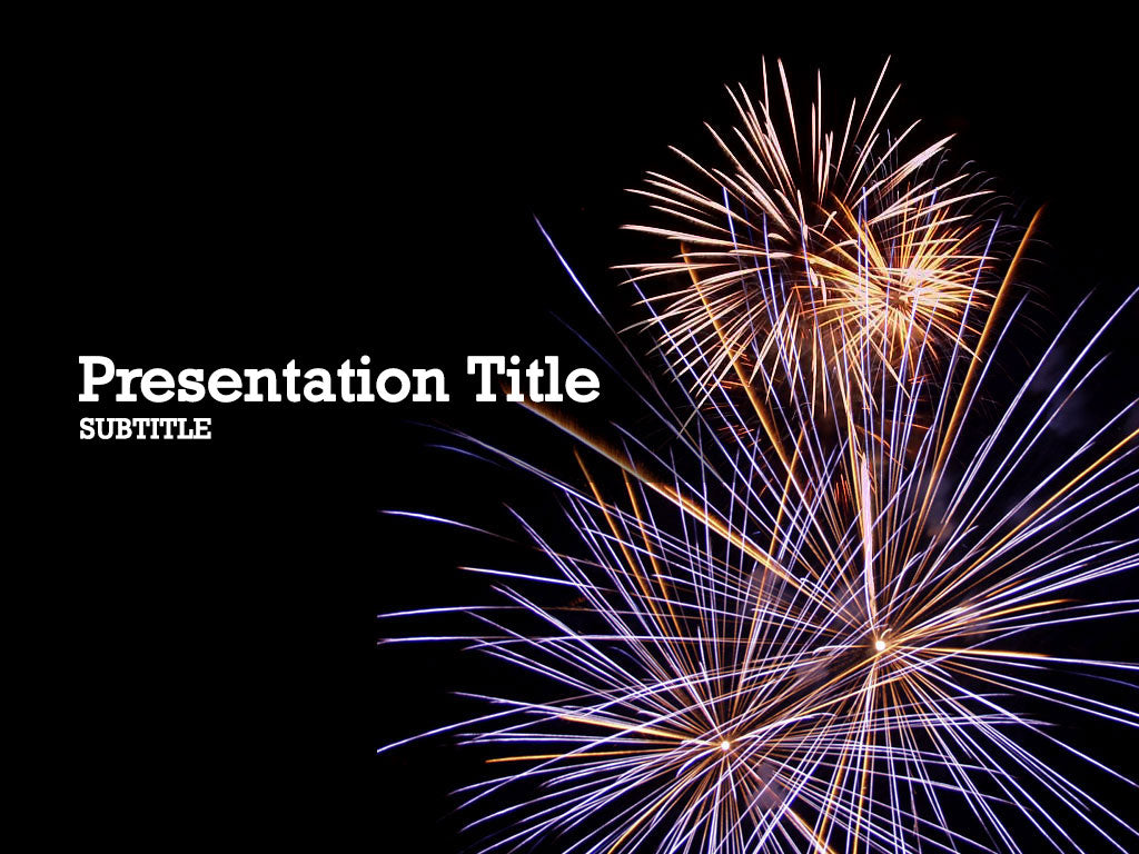 free-fireworks-PPT-template
