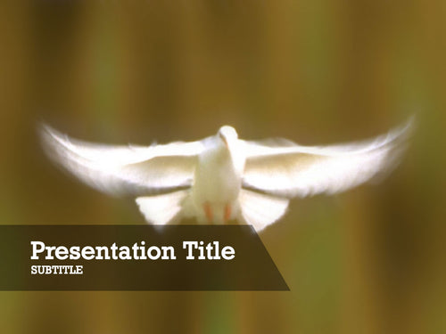 free-flying-white-dove-PPT-template