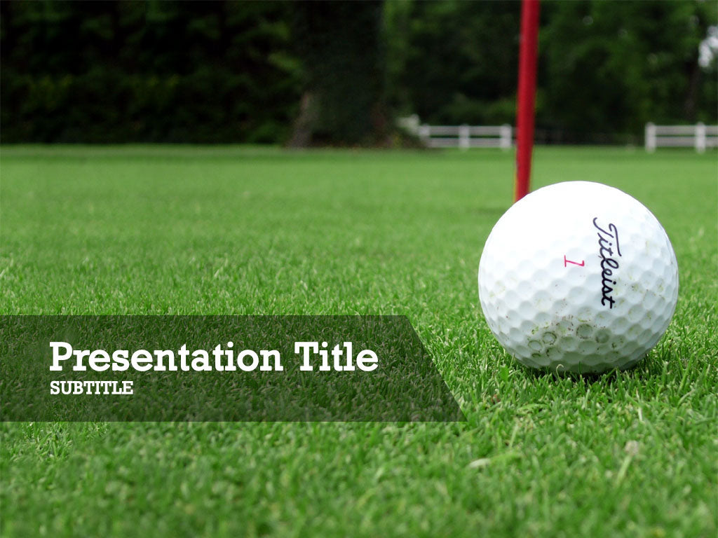 free-golf-all-on-green-PPT-template