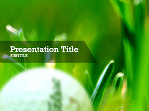 Free golf ball Powerpoint template and Google Slides theme