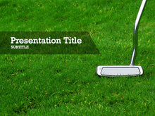 Load image into Gallery viewer, free-golf-putter-PPT-template