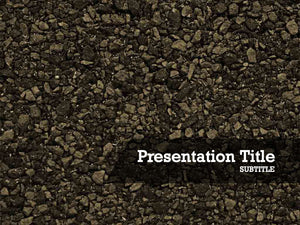 Free gravel Powerpoint template and Google Slides theme