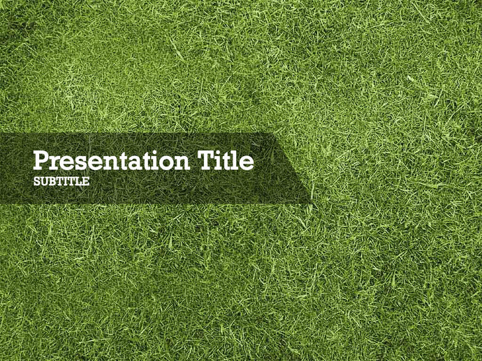 free-green-grass-PPT-template