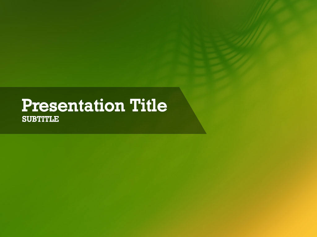 free-green-grid-shadow-PPT-template