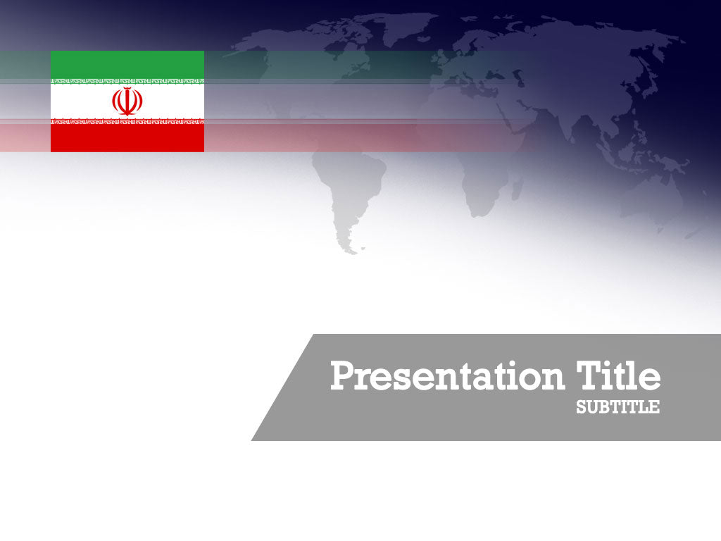 free-iran-flag-PPT-template