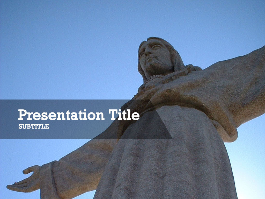 free-jesus-christ-statue-PPT-template