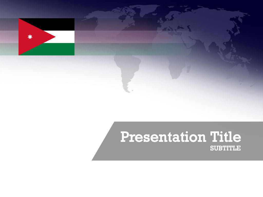 free-jordan-flag-PPT-template