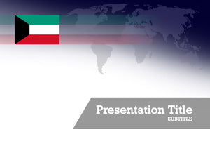 free-kuwait-flag-PPT-template