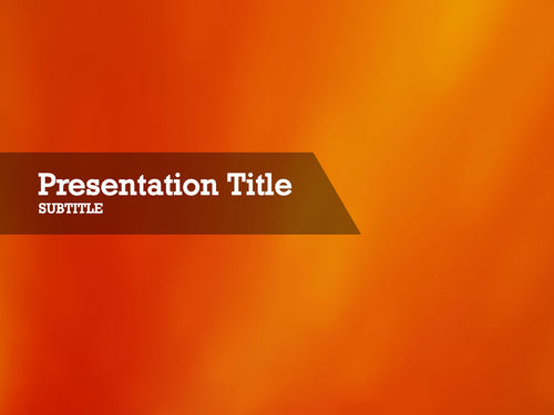 free-orange-background-PPT-template