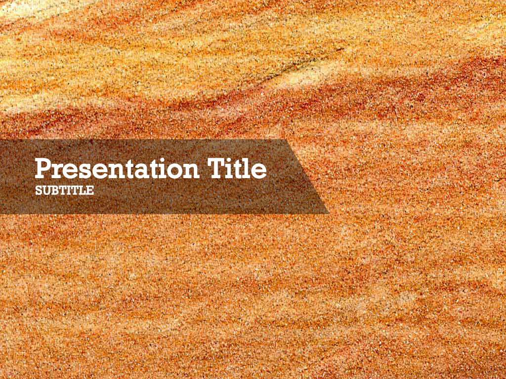 free-orange-sand-PPT-template
