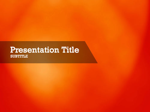 free-orange-spotlight-PPT-template